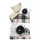 Детское постельное белье Teen LB-03-1, черно-белый, ранфорс, Kingsilk