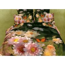 """Постельное белье """"Бабочки в саду"""", Мако-Сатин, Волшебные сны"""