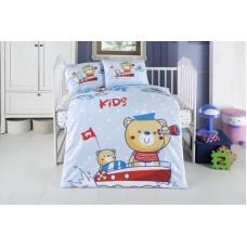 Детское белье в кроватку КПБ Polletto ранфорс Tango PL1015-05, Ранфорс, Танго