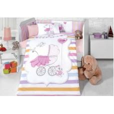 Детское белье в кроватку КПБ Polletto ранфорс Tango PL1015-04, Ранфорс, Танго