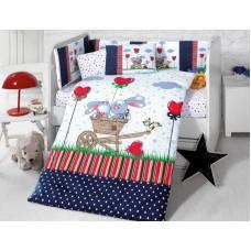 Детское белье в кроватку КПБ Polletto ранфорс Tango PL1015-12, Ранфорс, Танго
