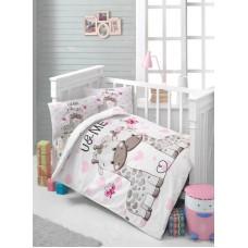 Детское белье в кроватку КПБ Polletto ранфорс Tango PL1015-10, Ранфорс, Танго
