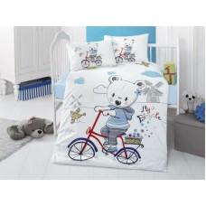 Детское белье в кроватку КПБ Polletto ранфорс Tango PL1015-01, Ранфорс, Танго