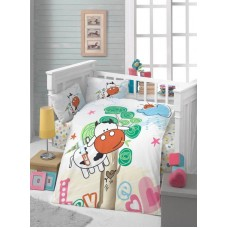 Детское белье в кроватку КПБ Polletto ранфорс Tango PL1015-13, Ранфорс, Танго