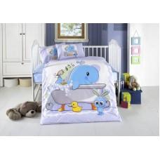 Детское белье в кроватку КПБ Polletto ранфорс Tango PL1015-08, Ранфорс, Танго