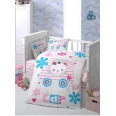 Детское белье в кроватку КПБ Polletto ранфорс Tango PL1015-15, Ранфорс, Танго