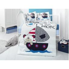 Детское белье в кроватку КПБ Polletto ранфорс Tango PL1015-06, Ранфорс, Танго