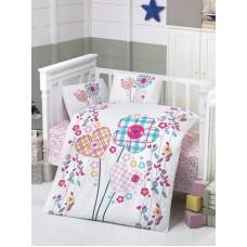 Детское белье в кроватку КПБ Polletto ранфорс Tango PL1015-07, Ранфорс, Танго