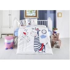Детское белье в кроватку КПБ Polletto ранфорс Tango PL1015-14, Ранфорс, Танго